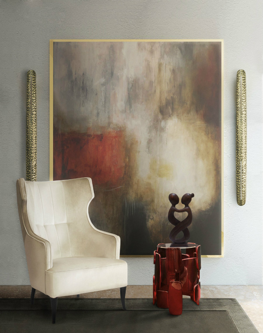 How To Style Your Wall With Mid-century Modern Lighting modern lighting How To Style Your Wall With Modern Lighting elegant living room set featuring iguazu armchair shaka wall lights intended for creative 8b1a573ecd375996a1084455879daad9