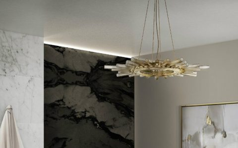suspension modern lighting Suspension Modern Lighting for a Luxury Bathroom CAPA 1 480x300