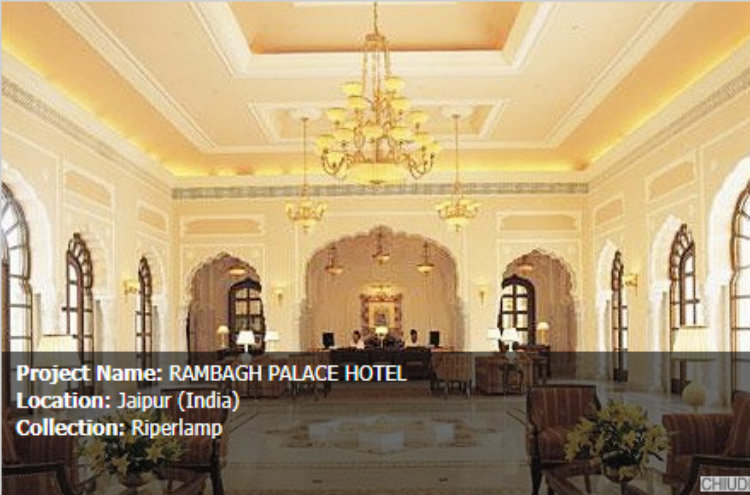 codital Codital – Italy's Finest Modern Lighting Cobital Rambagh Palace Hotel